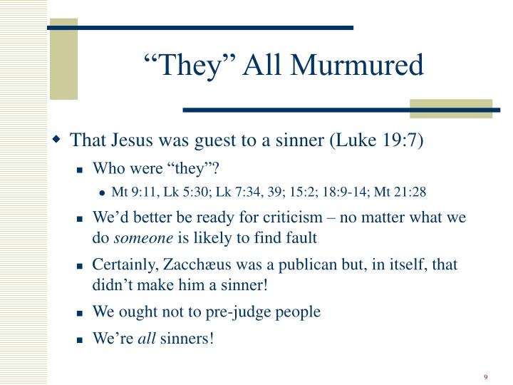 """They"" All Murmured"