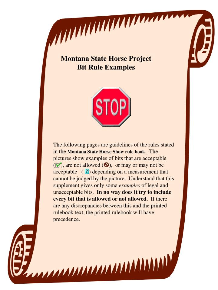 Montana State Horse Project