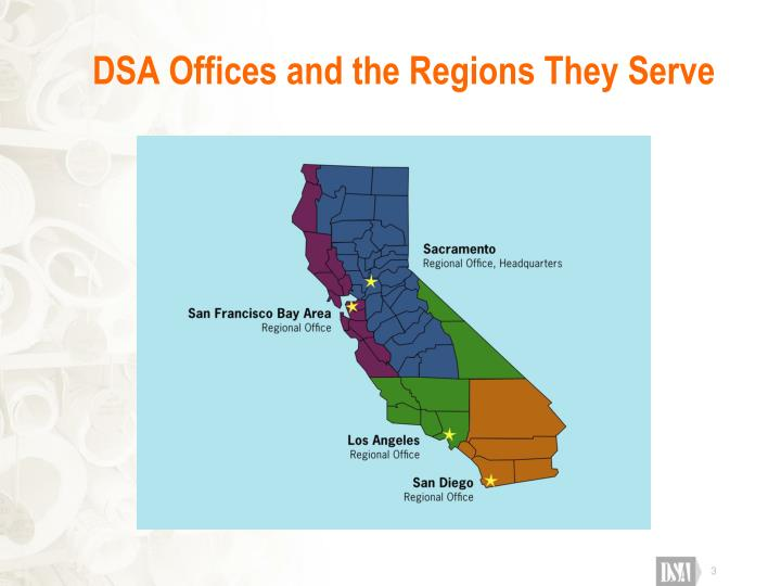 Dsa offices and the regions they serve