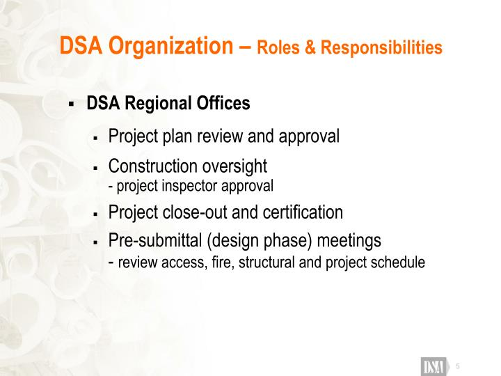 DSA Organization –