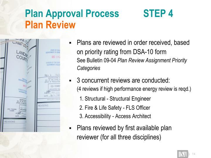 Plan Approval Process          STEP 4