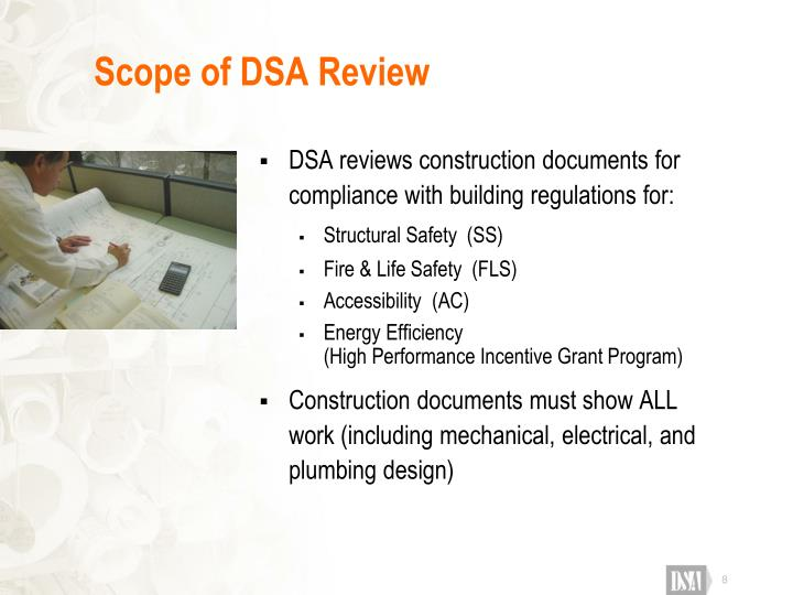 Scope of DSA Review