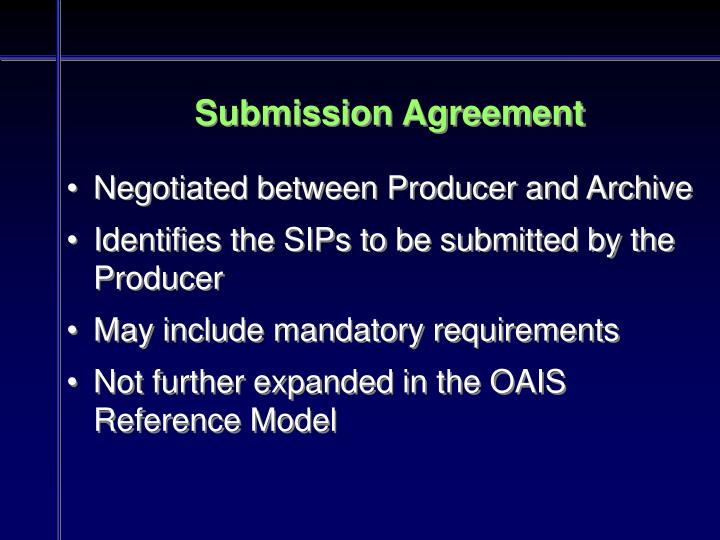 Submission Agreement