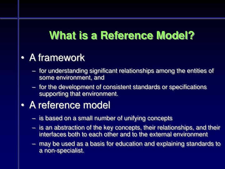 What is a Reference Model?