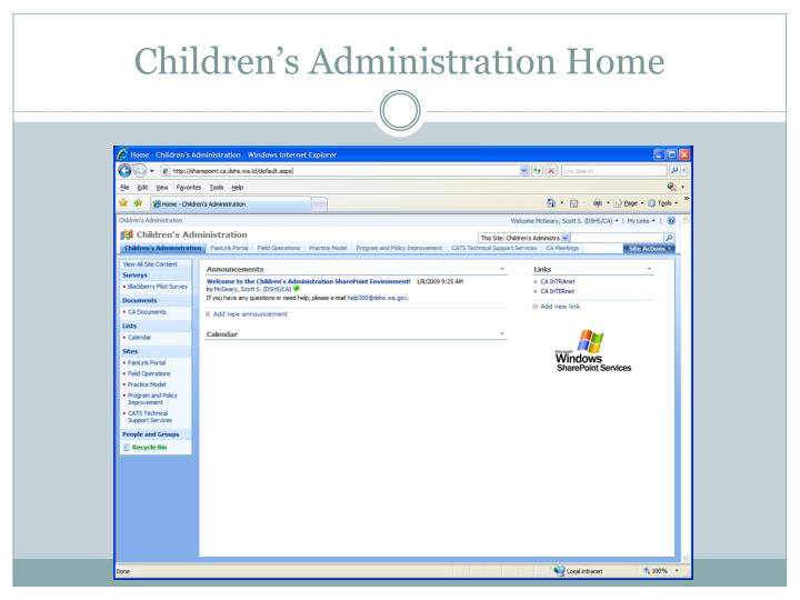 Children's Administration Home