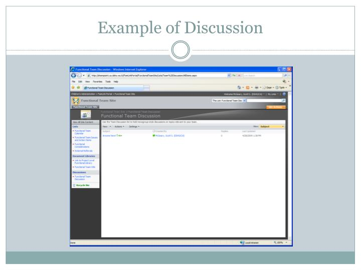Example of Discussion
