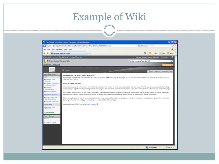 Example of Wiki