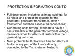 protection information cont d
