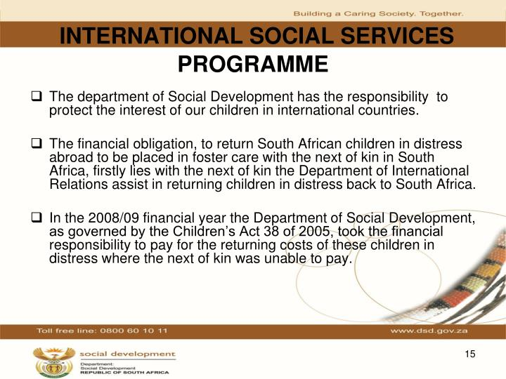 INTERNATIONAL SOCIAL SERVICES PROGRAMME