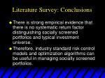 literature survey conclusions