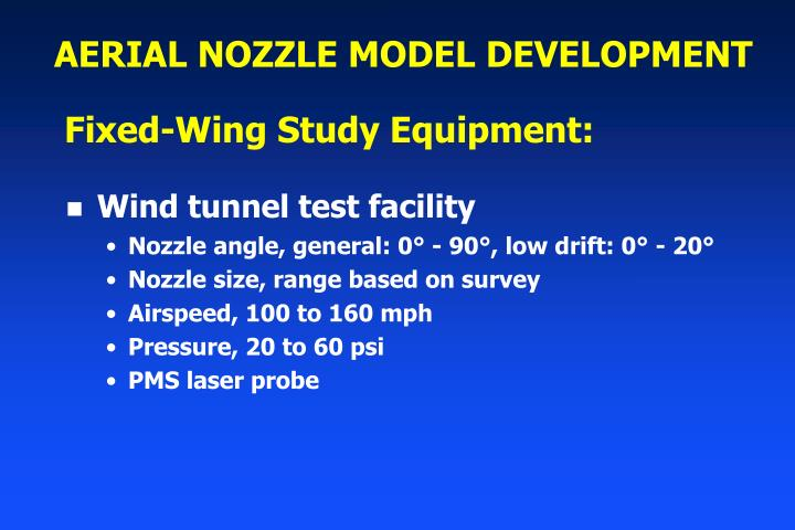 AERIAL NOZZLE MODEL DEVELOPMENT