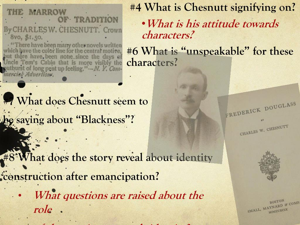 #4 What is Chesnutt signifying on?