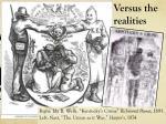 versus the realities