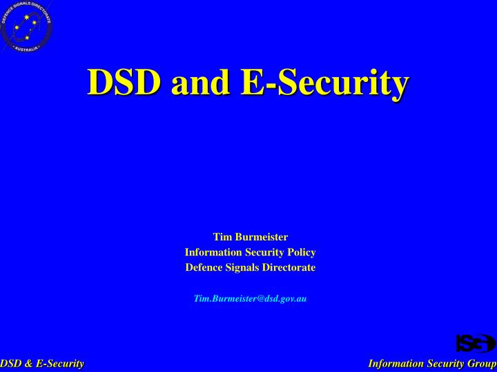 dsd and e security n.