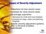 impact of severity adjustment1