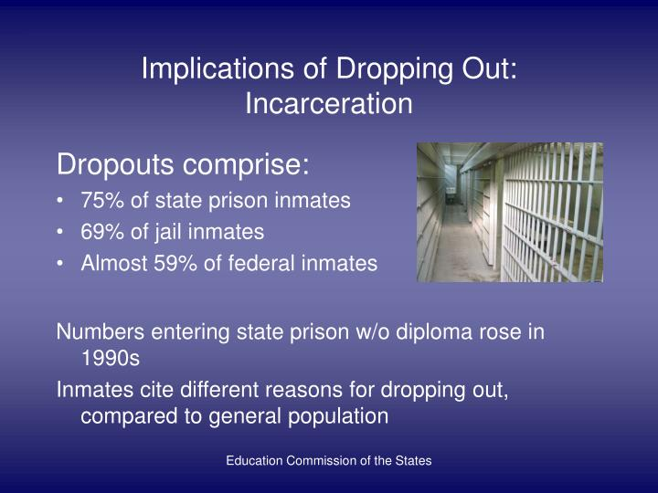 Implications of Dropping Out: Incarceration