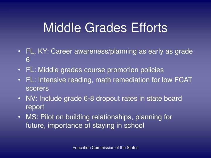 Middle Grades Efforts