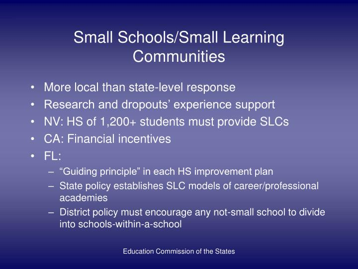 Small Schools/Small Learning Communities