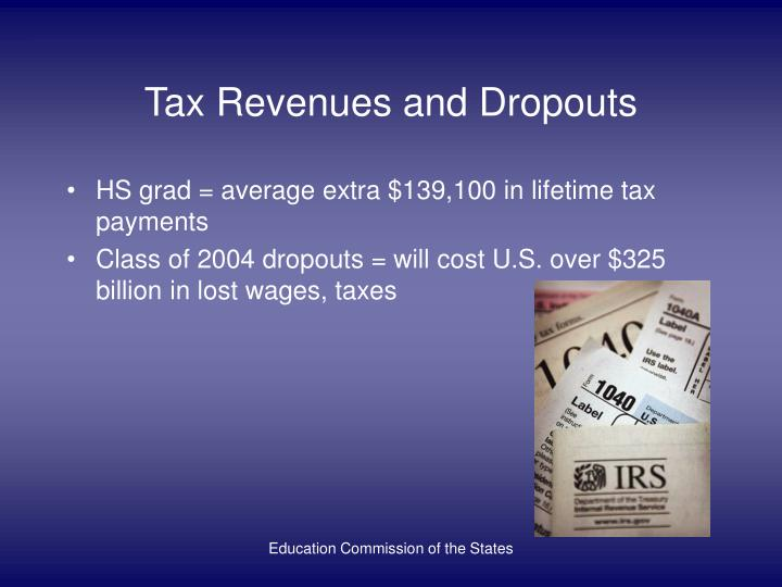Tax Revenues and Dropouts