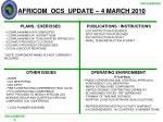 africom ocs update 4 march 2010