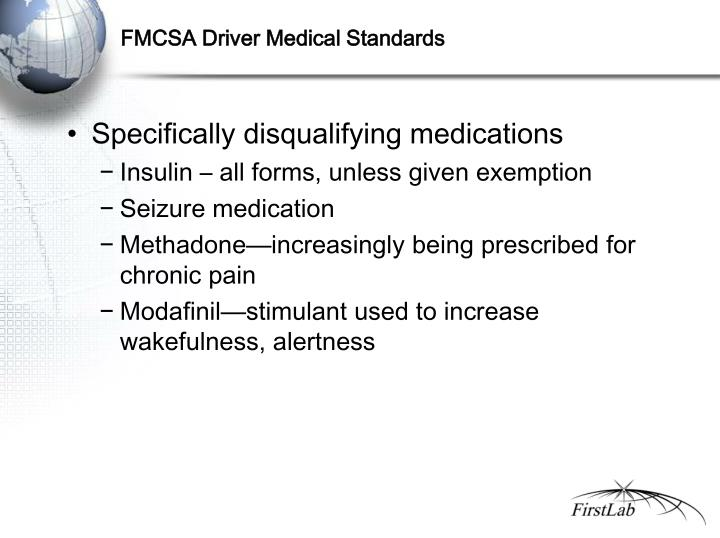 FMCSA Driver Medical Standards