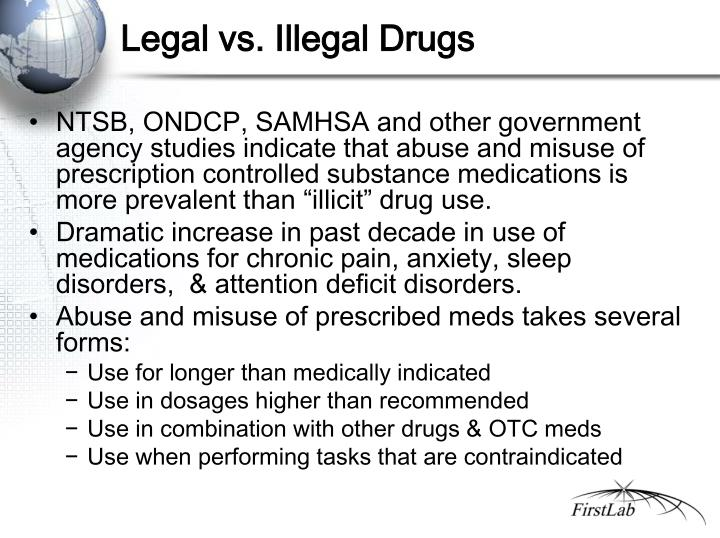Legal vs. Illegal Drugs