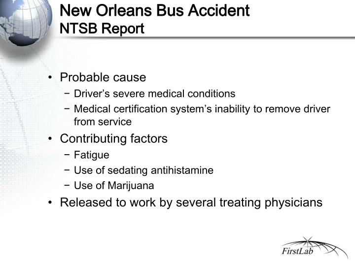 New Orleans Bus Accident