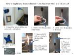 how to light up a bunsen burner an important skill in a chem lab