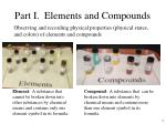 part i elements and compounds