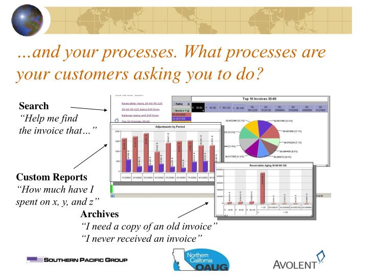 …and your processes. What processes are your customers asking you to do?
