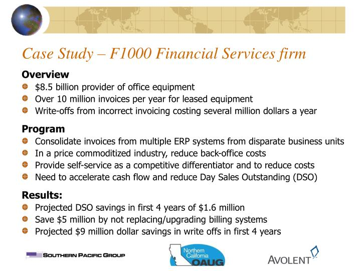 Case Study – F1000 Financial Services firm