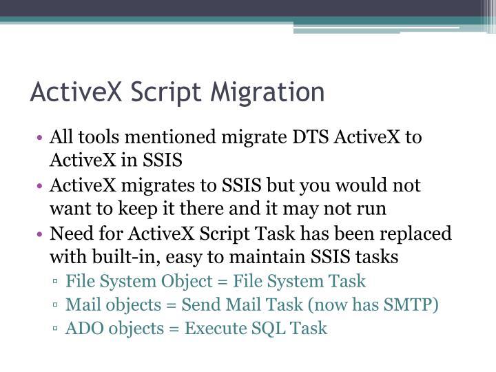 ActiveX Script Migration
