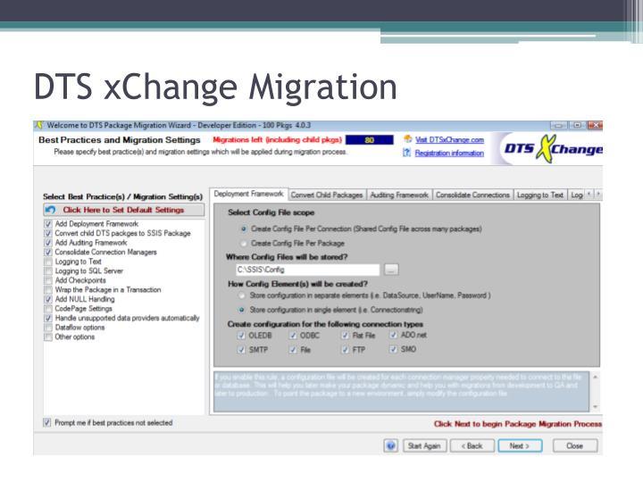 DTS xChange Migration