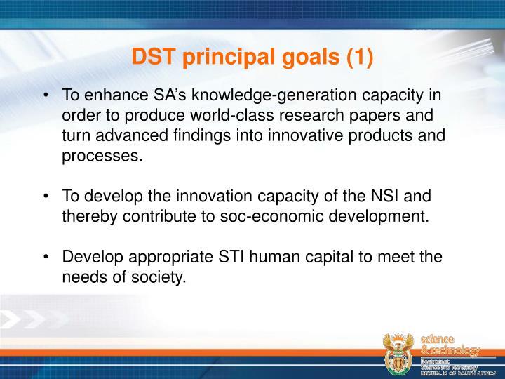 DST principal goals (1)