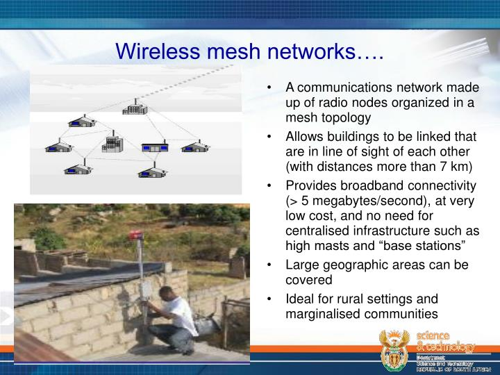Wireless mesh networks….