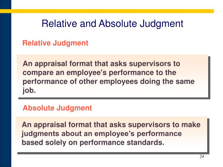 Relative and Absolute Judgment