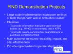find demonstration projects