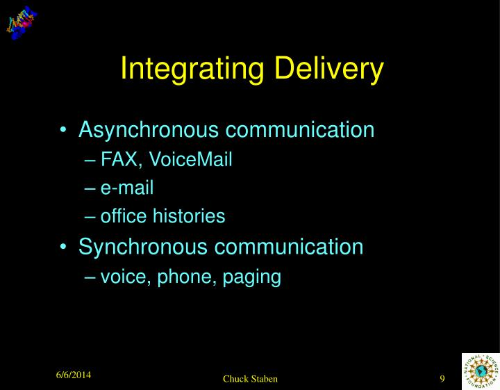 Integrating Delivery