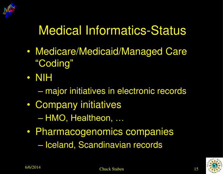 Medical Informatics-Status