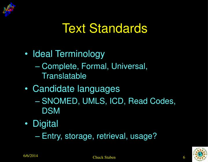 Text Standards