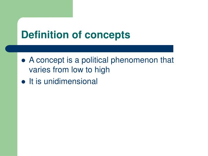 Definition of concepts