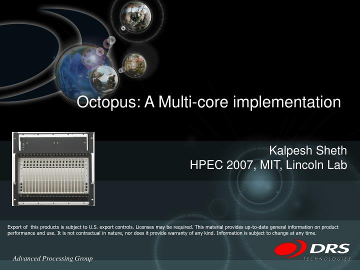 octopus a multi core implementation n.