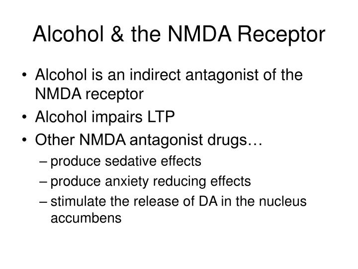 Alcohol & the NMDA Receptor
