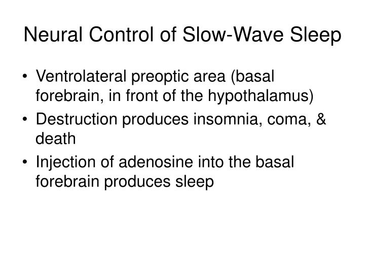 Neural Control of Slow-Wave Sleep
