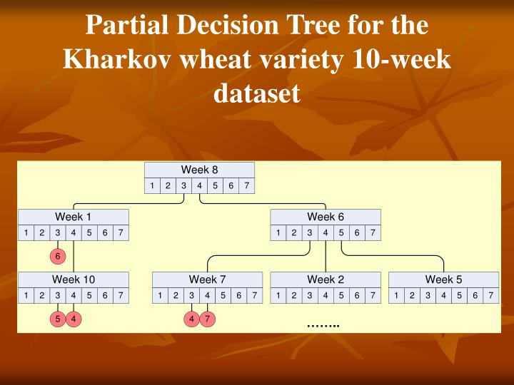 Partial Decision Tree for the Kharkov wheat variety 10-week dataset