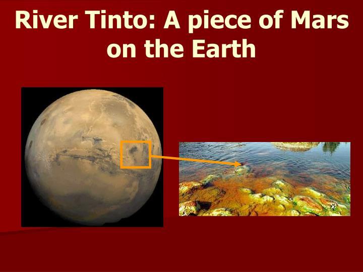 River Tinto: A piece of Mars