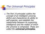 the universal principles