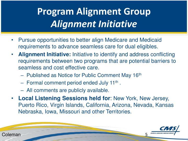 Program Alignment Group