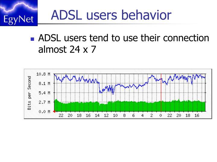 ADSL users behavior