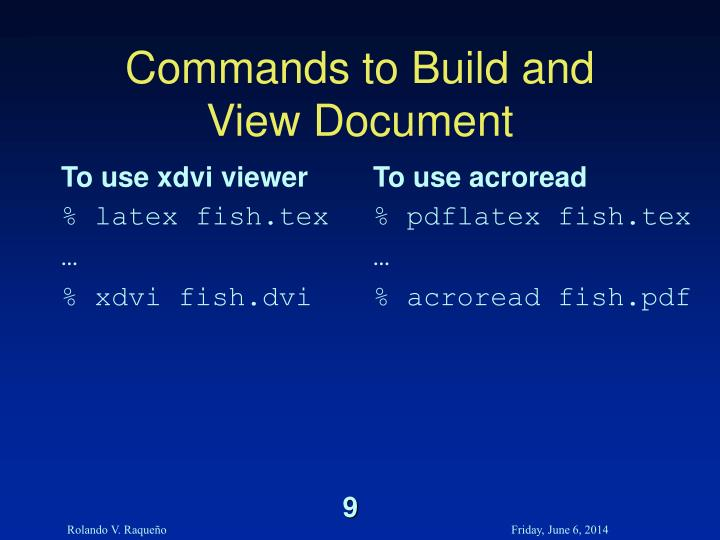 To use xdvi viewer